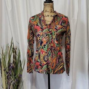 Vera Bradley Floral Button Down Shirt